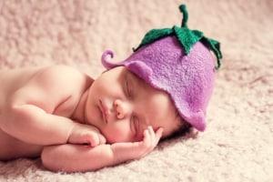 Heizstrahler Baby schlafendes Baby